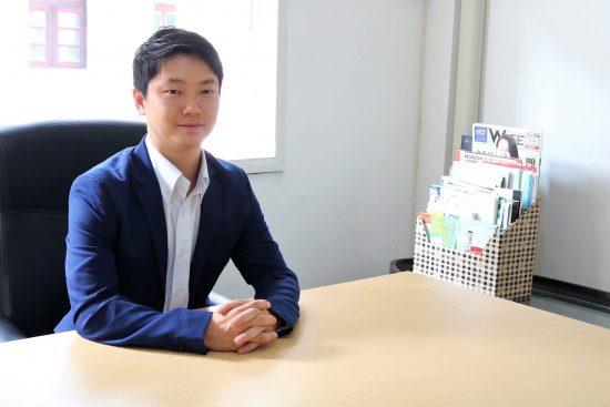 タイのバンコクの不動産会社の田端さんです