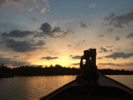 タイのクラビの夕日