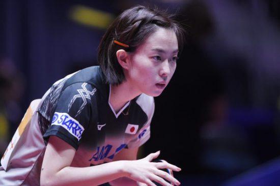 卓球女子石川佳純選手です