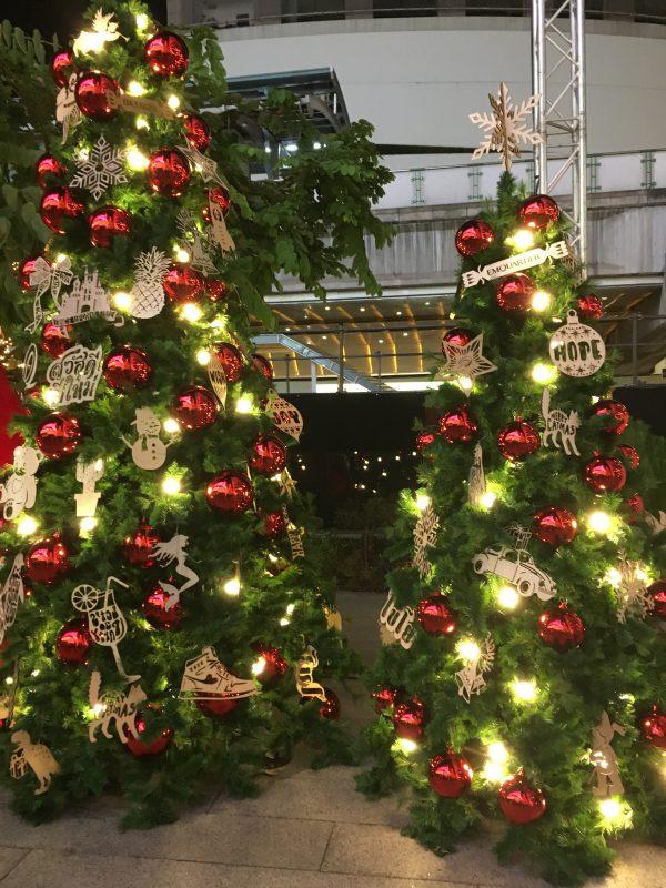 タイのクリスマスの飾り付け